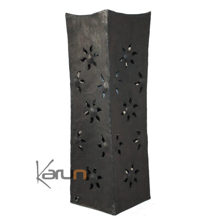 vase design rectangle haut 50 cm lampe luminaire m tal recycl madagascar 5. Black Bedroom Furniture Sets. Home Design Ideas