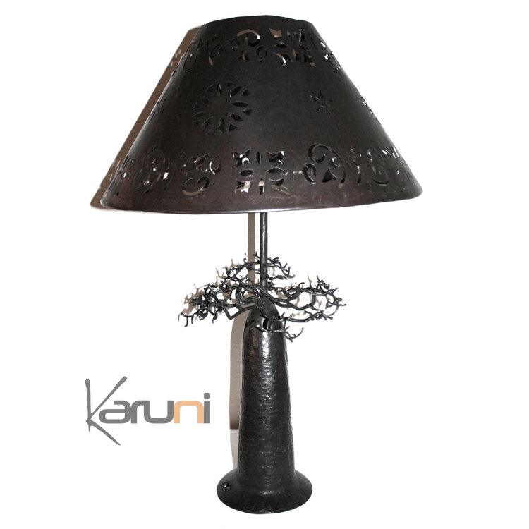 lampe arbre abat jour luminaire design arbre baobab rond. Black Bedroom Furniture Sets. Home Design Ideas