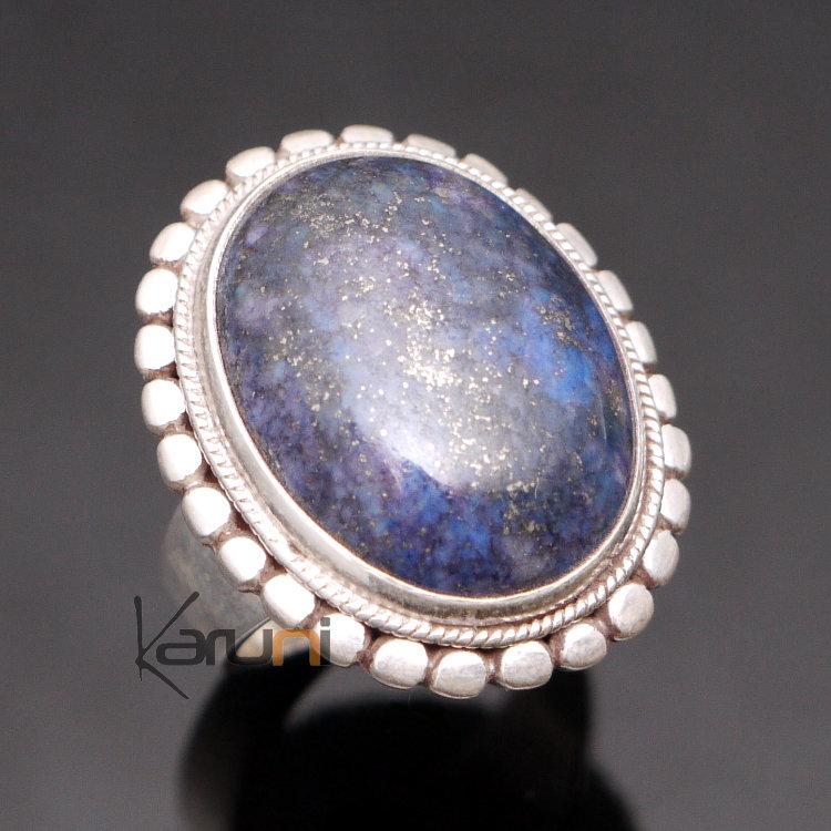 bijoux ethniques indiens bague en argent pierre lapis lazuli bleu grand ovale n pal 31. Black Bedroom Furniture Sets. Home Design Ideas